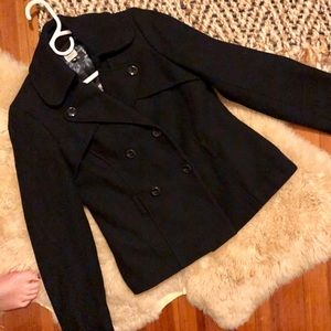 ✨Old Navy Black Pea Coat in EUC Size Small